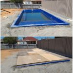 Before and After Fibreglass Pool 1